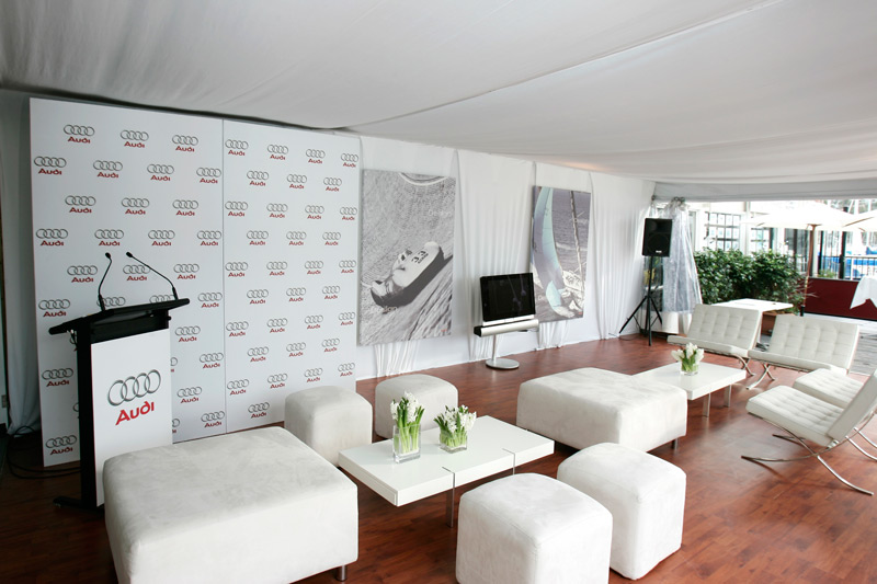 Small business event agency Surrey Audi room branding